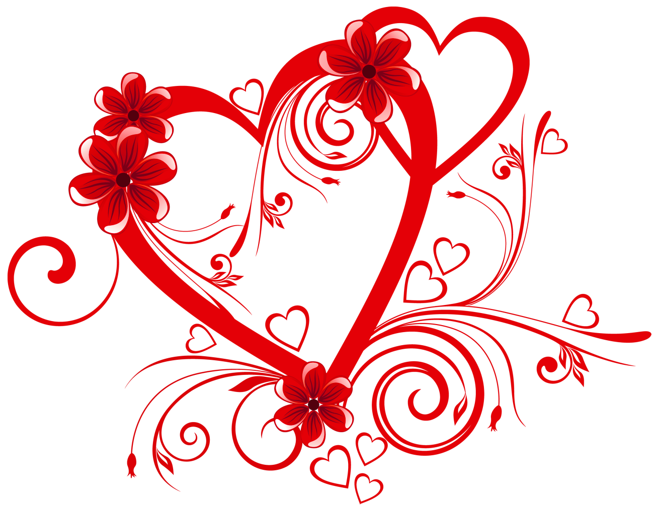 image library Heart with Flowers PNG Clipart