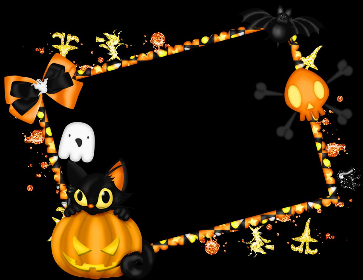 banner download Halloween corner border clipart. Cute frame free clip