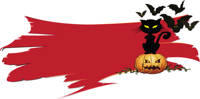 svg royalty free library Halloween corner border clipart. Happy name