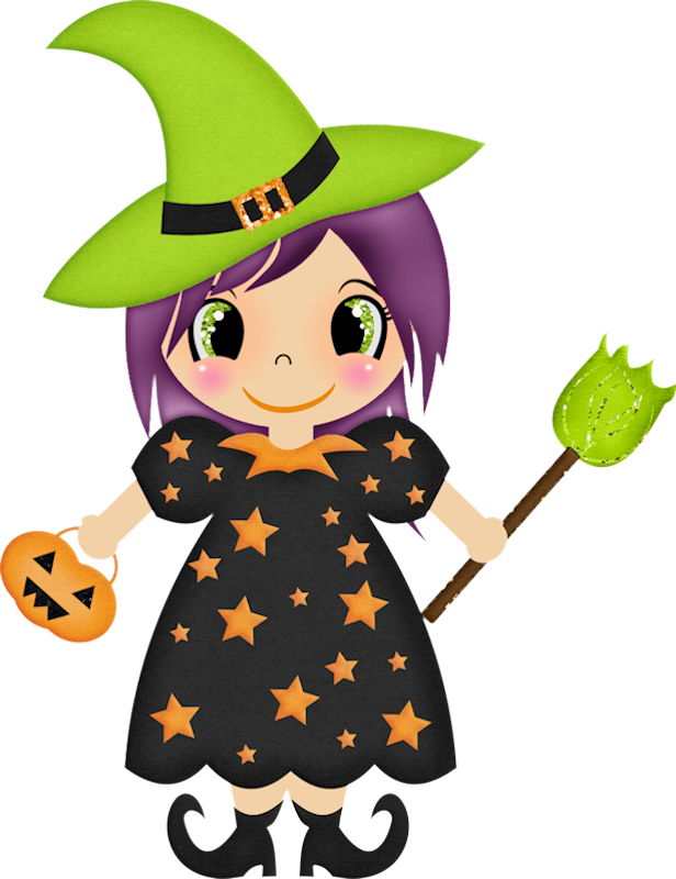 clipart black and white stock Vector costume clipart. Halloween witch clip art