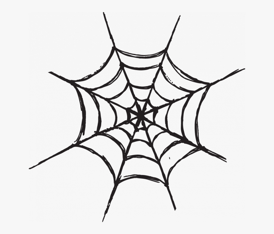 jpg freeuse download Black and white images. Halloween spider web clipart