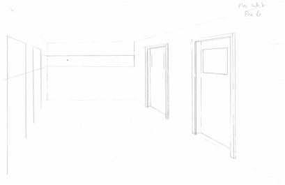 image free Hallway drawing. Incomplete awhite art blog