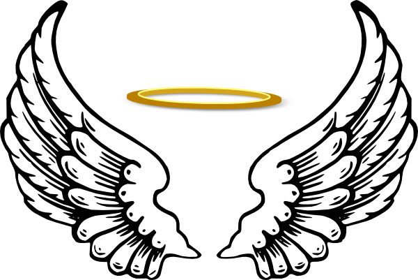clip library download With google search good. Halo clipart angel wings heart