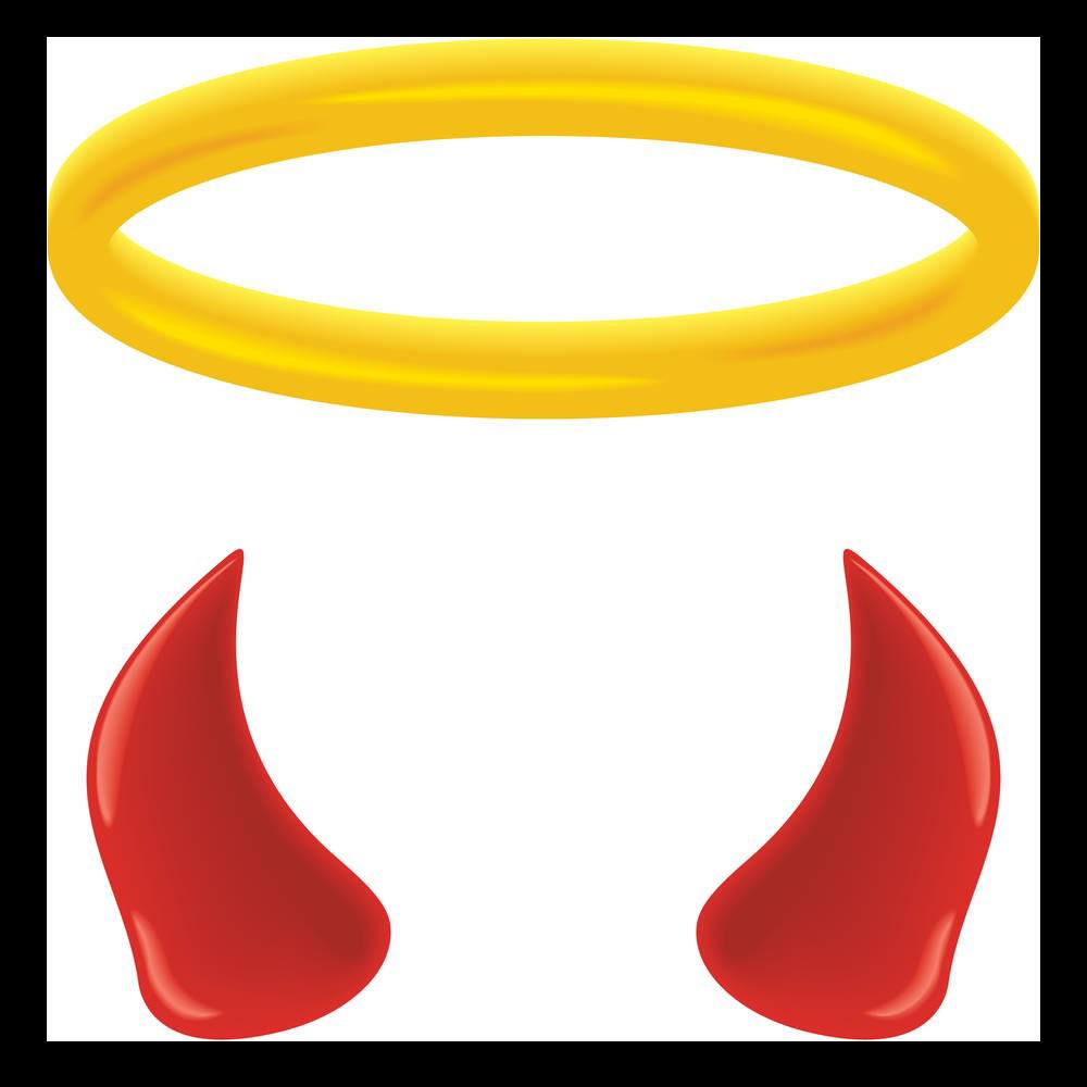 vector stock Angel devil clip art. Halo clipart angle