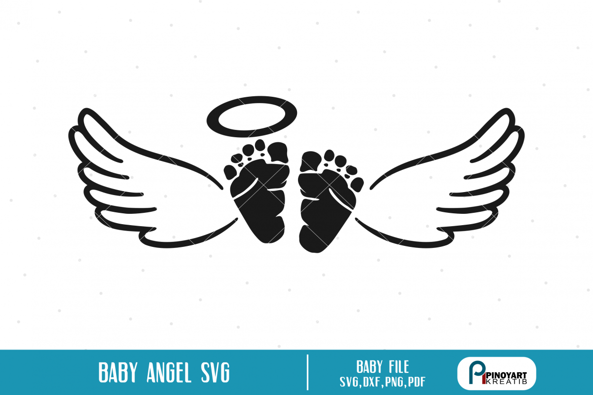 freeuse stock Svg a feet with. Vector baby angel