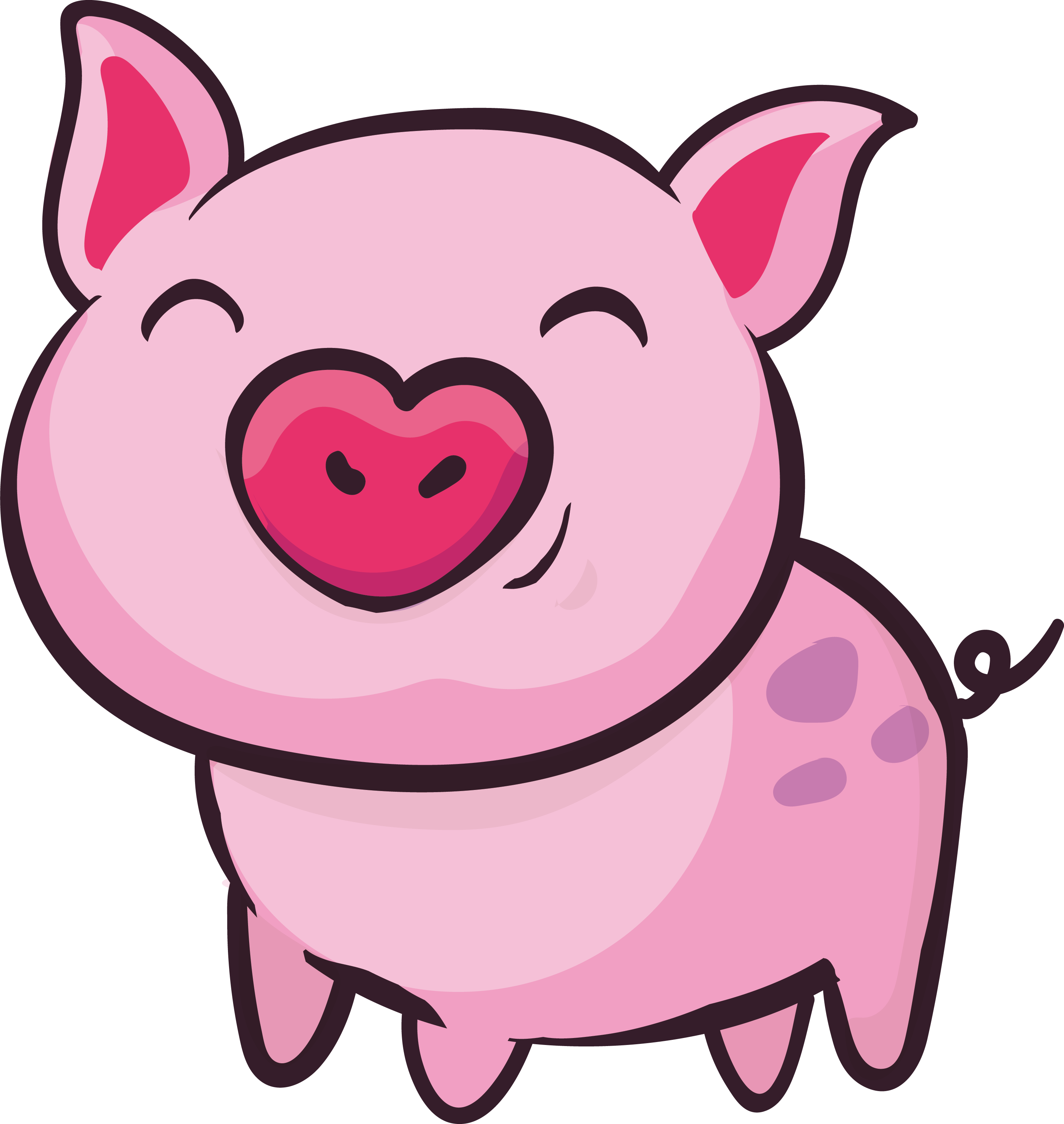 picture black and white download Ham clipart pig. Domestic clip art pink