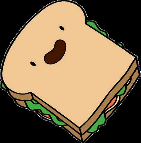 svg stock Sandwich adventure time wiki. Ham clipart sandwhich