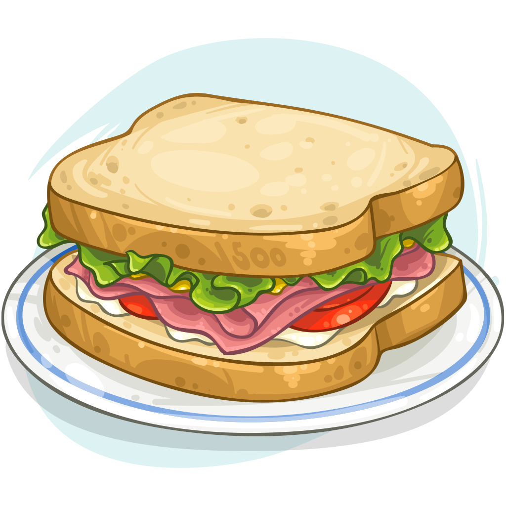 vector freeuse download Item detail sandwich itembrowser. Ham clipart sandwhich