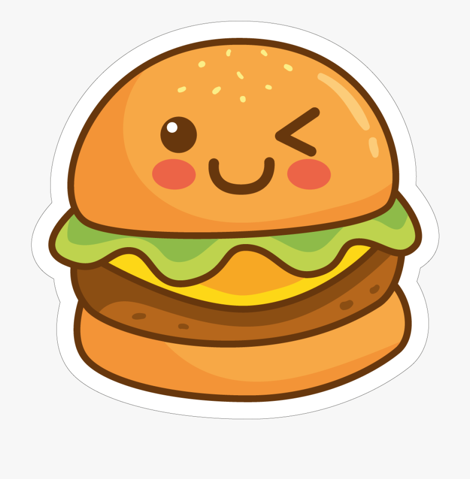 svg black and white library Hamburger clipart. Burger cute png free.