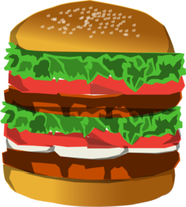 clipart free library Deluxe clip art at. Hamburger clipart burger