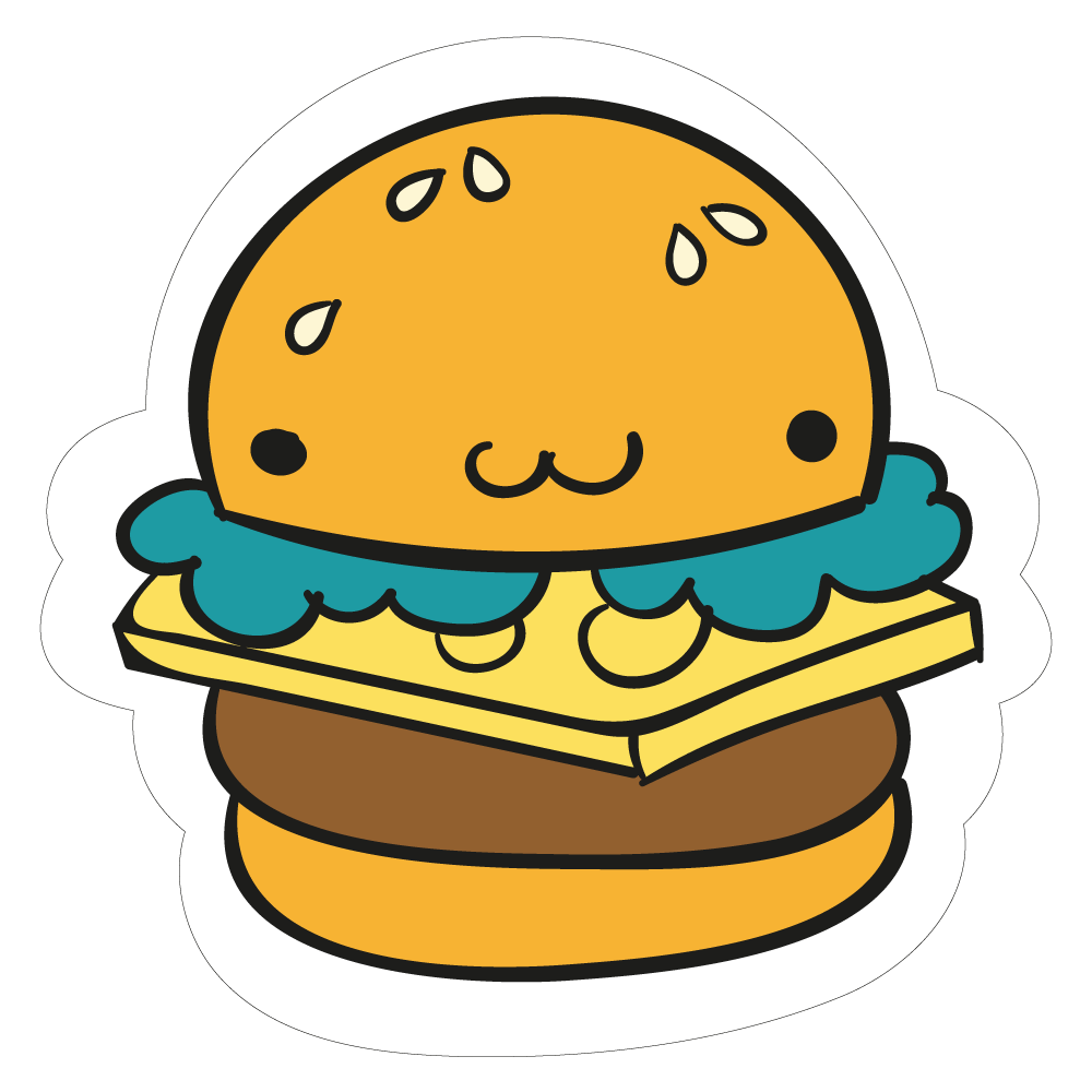 graphic free Hamburger clipart cute.  cool sticker vinyl