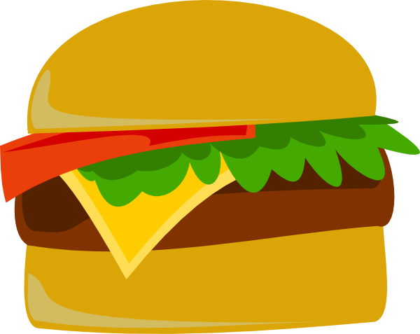 vector freeuse Hamburger clipart hamburger fry. Piece free on dumielauxepices