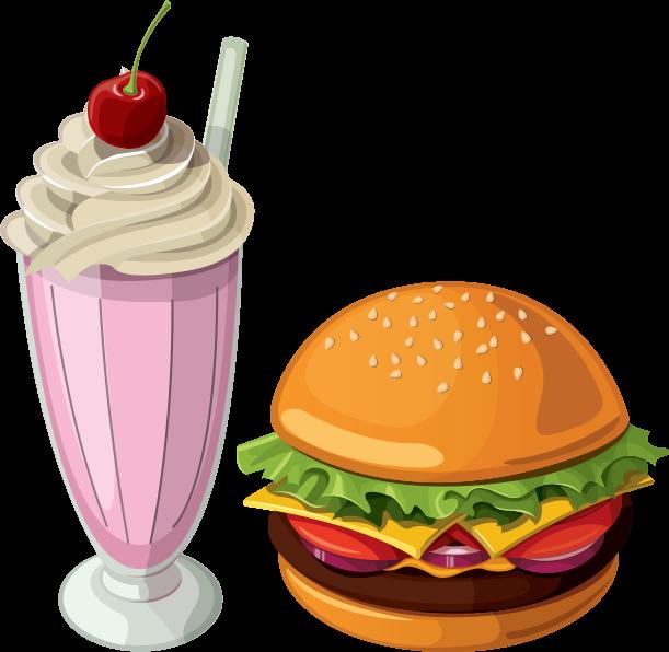 picture stock Meet the master somm. Hamburger clipart milkshake
