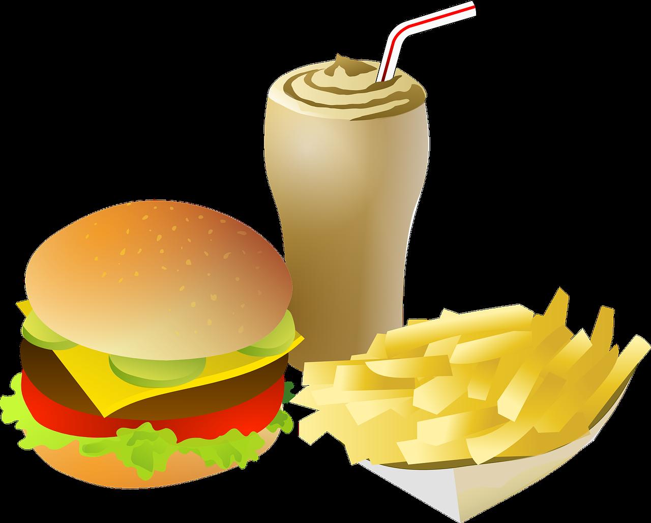 graphic stock Movies and t v. Hamburger clipart milkshake