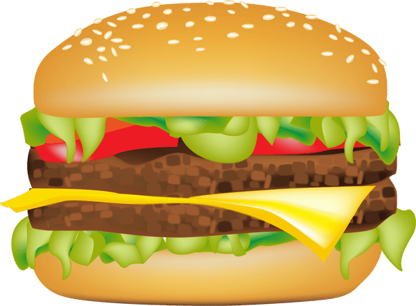 image black and white library Hamburger clipart regular burger. Hamburgers chicken free on