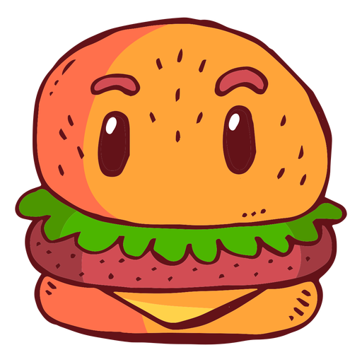 clipart free stock Hamburger character cartoon transparent. Vector burger animated