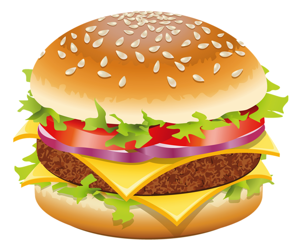 clip art royalty free stock Hamburger png clipart picture. Vector burger cheeseburger