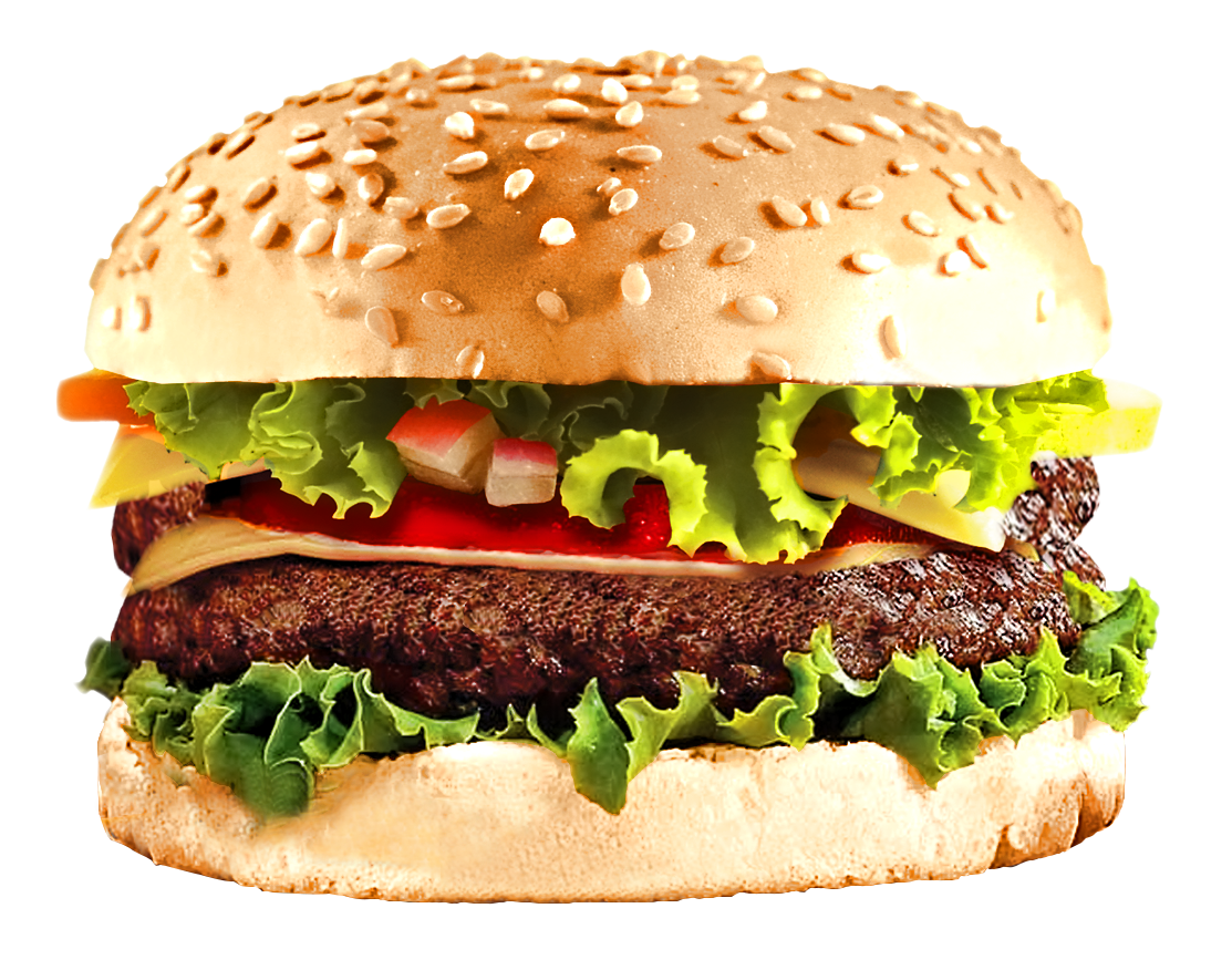 vector library Cheeseburger transparent background. Fast food burger png.
