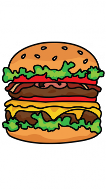 image stock Cheeseburger drawing easy. How to draw a
