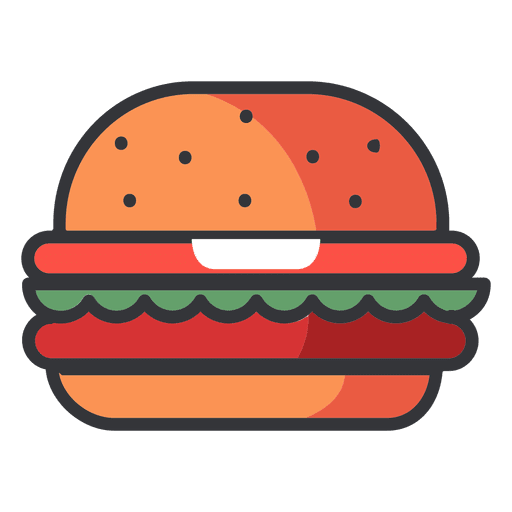 image free download Fast food Hamburger flat icon