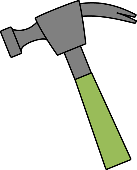 vector royalty free library Clipartpen. Hammer clipart green