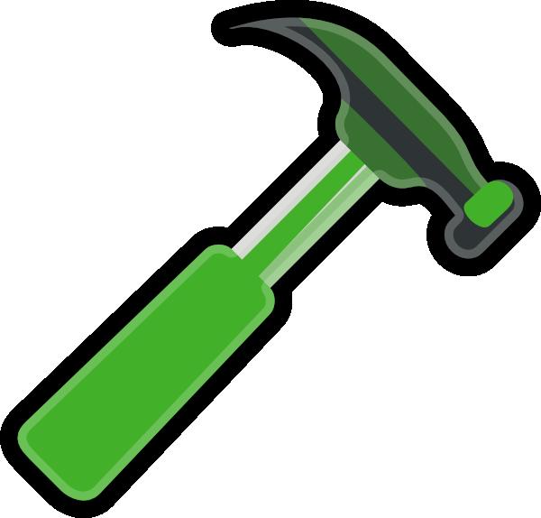 vector royalty free library Gray clip art at. Hammer clipart green