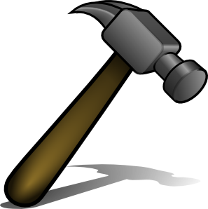 svg royalty free library Clip art at clker. Hammer clipart wooden hammer
