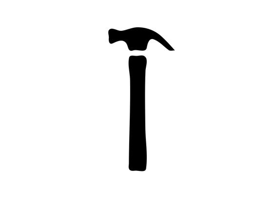 black and white library Hammer svg. Tools files cut file