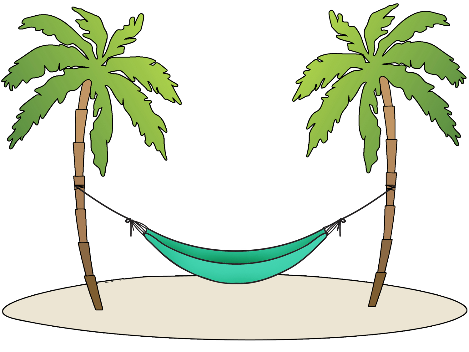 banner black and white Hammock clipart. Collection of free download.