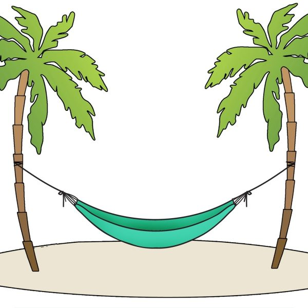 vector free stock Hammock clipart. Beach with regard to.