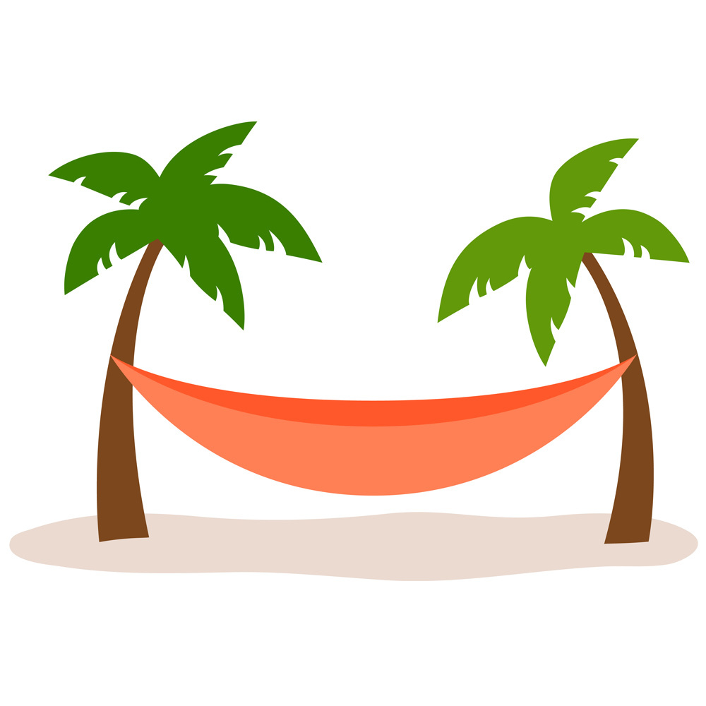 image royalty free Palm tree station . Hammock clipart.