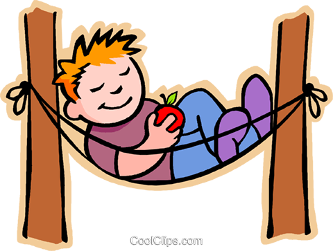 clip art royalty free stock Boy pencil and in. Hammock clipart kid