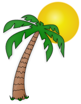 graphic library stock Palm tree cilpart inspirational. Hammock clipart sunset