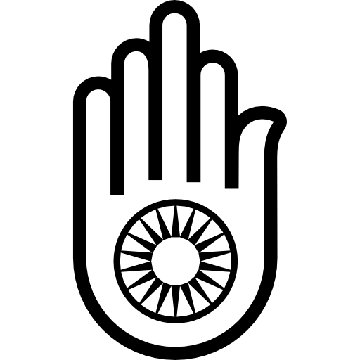 jpg freeuse library Hand hinduist free shapes. Hamsa vector.