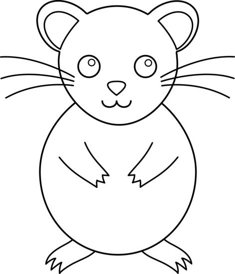 graphic royalty free stock Cute Colorable Hamster
