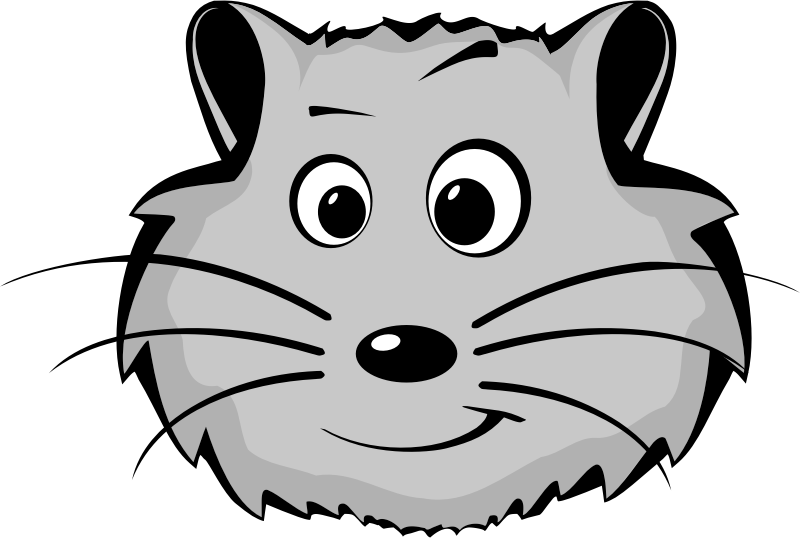 image royalty free stock Clipartblack com face. Hamster clipart black and white