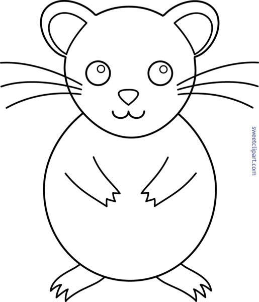 picture download Hamster clipart black and white. Sweet clip art page