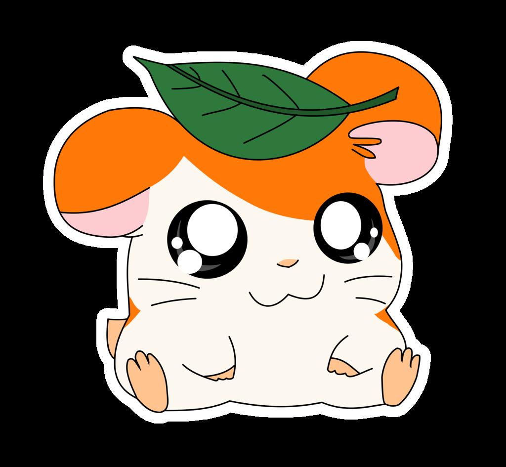 clip art royalty free download hamtaro hamster kawaii cute anime orange white green