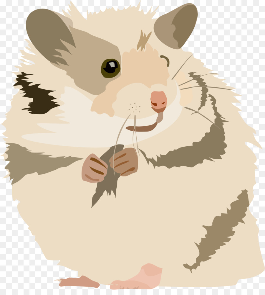 vector black and white Hamster clipart rodent. Golden gerbil mouse cute.
