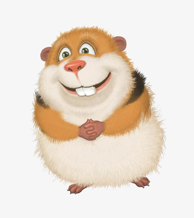 picture Hamster clipart rodent. Hand painted little mouse