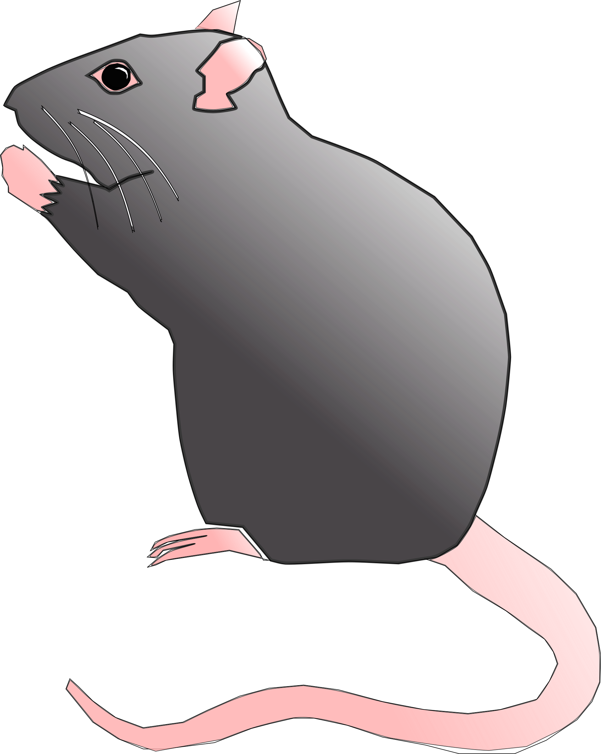 svg black and white library Hamster clipart rodent. Transparent free for