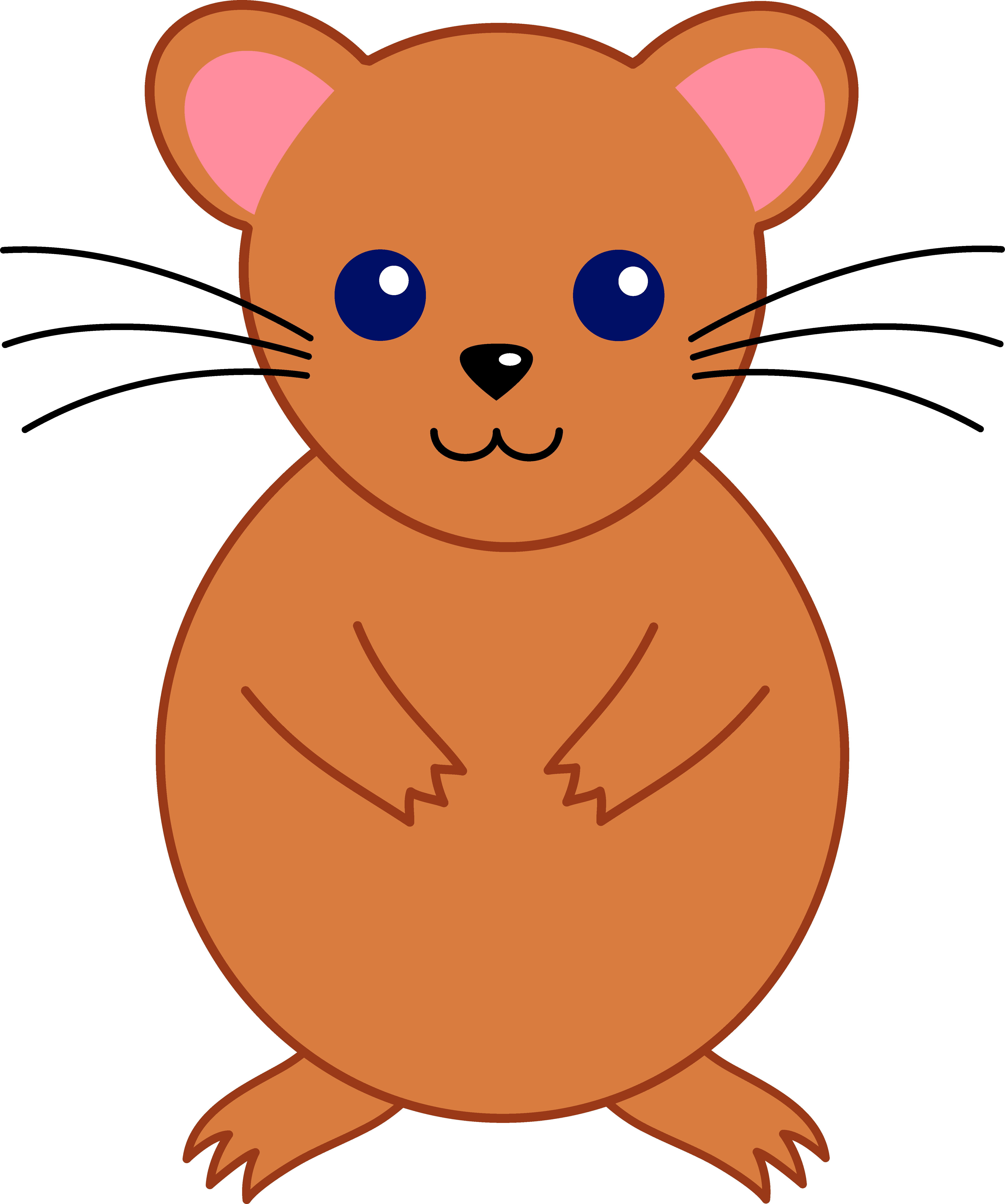 vector library download Pencil and in color. Hamster clipart rodent.