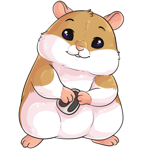 graphic royalty free Hamster clipart rodent. Blissful by shadowpelt fur.