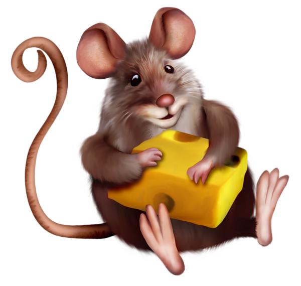 freeuse Mouse with cheese cartoon. Hamster clipart rodent