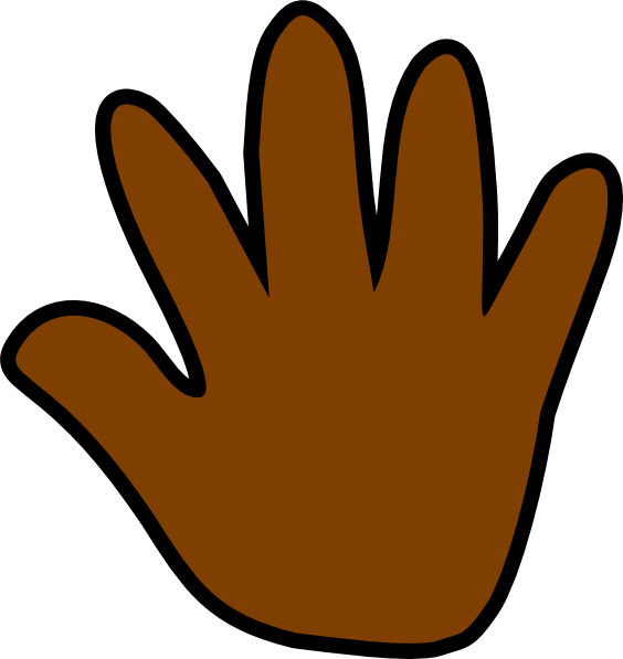 image free stock Handprint clipart clip art. Dark brown at clker