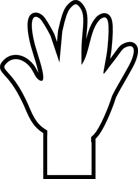 clip art transparent stock Hand clipart black and white. Open hands panda free