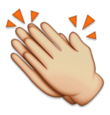 svg freeuse Hand clipart clapping. Ios emoji hands sign