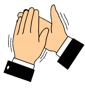 svg library library Hand clipart clapping. Hands transparent b g