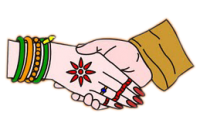 graphic library library Hand clipart marriage. Wedding colour png the