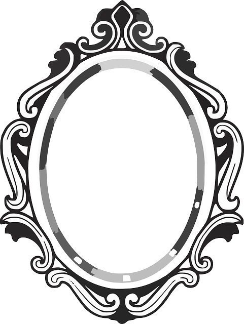 clipart royalty free download line drawing mirror frame